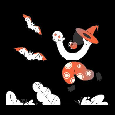 Иллюстрация Праздновать хэллоуин в стиле  в PNG и SVG | Icons8 Иллюстрации