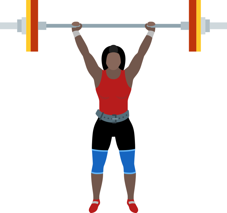 style woman with barbell Vector images in PNG and SVG | Icons8 Illustrations