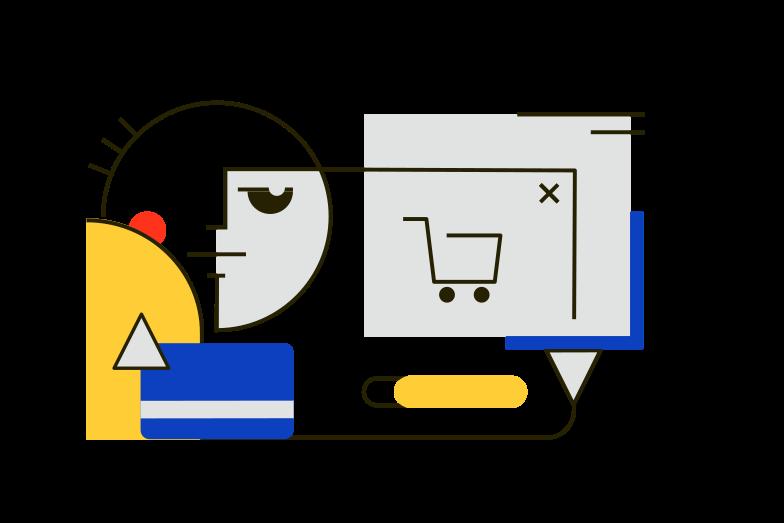 Online payment Clipart illustration in PNG, SVG