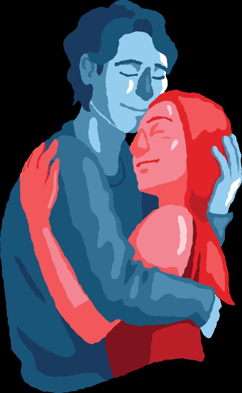 mann und frau paar umarmen sich Clipart-Grafik als PNG, SVG