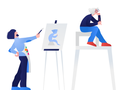 style The artist paints a picture images in PNG and SVG | Icons8 Illustrations