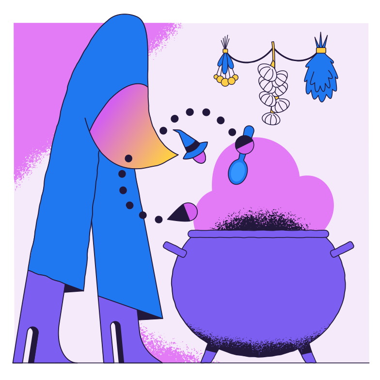 style Witch cooking Vector images in PNG and SVG | Icons8 Illustrations
