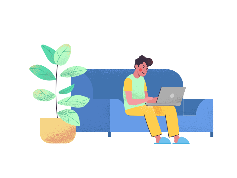 Working at home Clipart illustration in PNG, SVG
