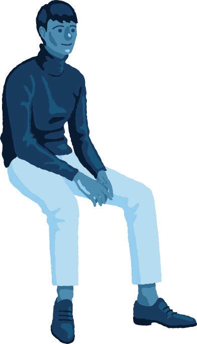 style man sitting front images in PNG and SVG | Icons8 Illustrations