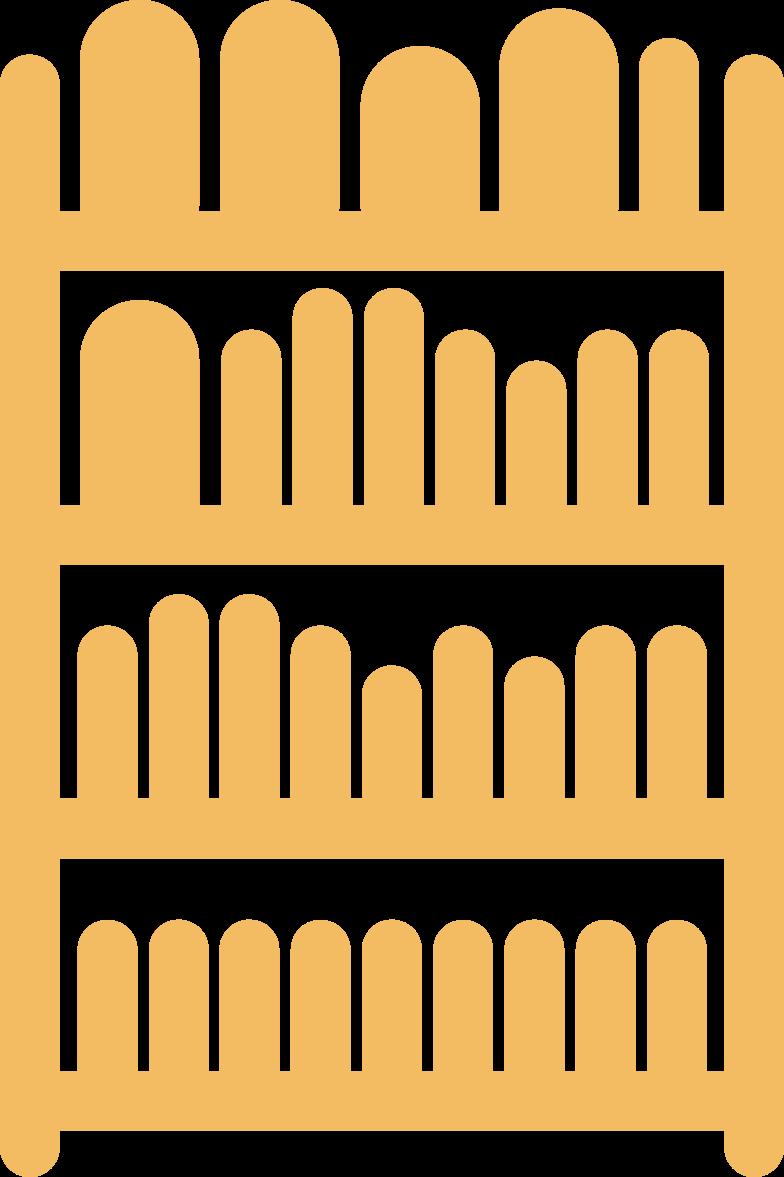 bookshelf Clipart illustration in PNG, SVG
