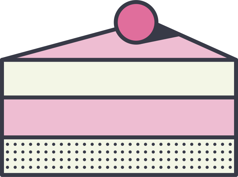 cake piece Clipart illustration in PNG, SVG