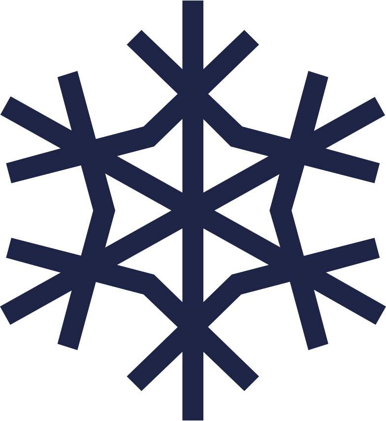 snowflake 2 line Clipart illustration in PNG, SVG