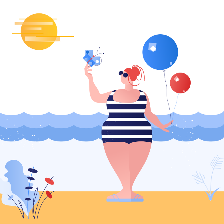 Summer holidays Clipart illustration in PNG, SVG