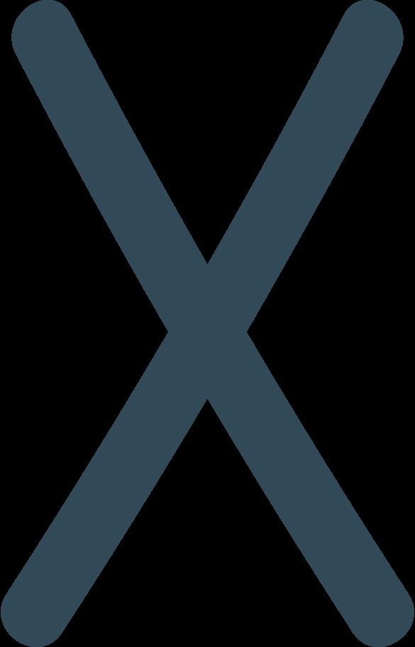 x dark blue Clipart illustration in PNG, SVG