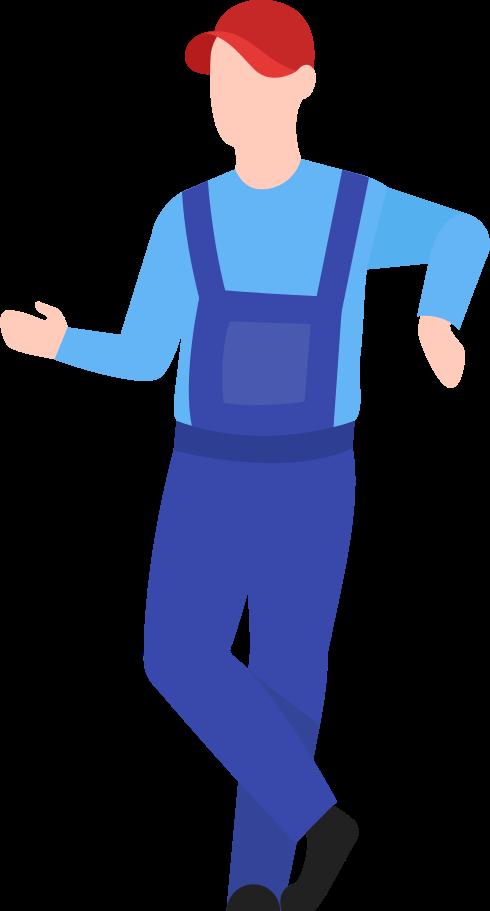 Mann lagerarbeiter Clipart-Grafik als PNG, SVG