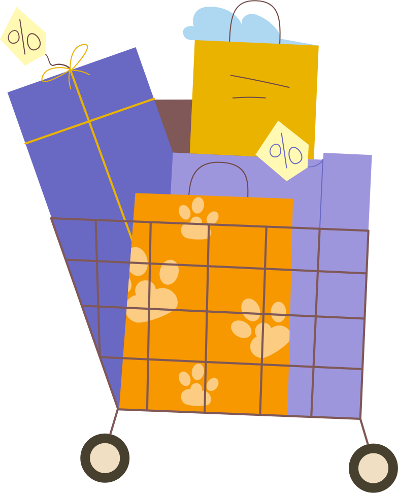 style gift cart Vector images in PNG and SVG | Icons8 Illustrations