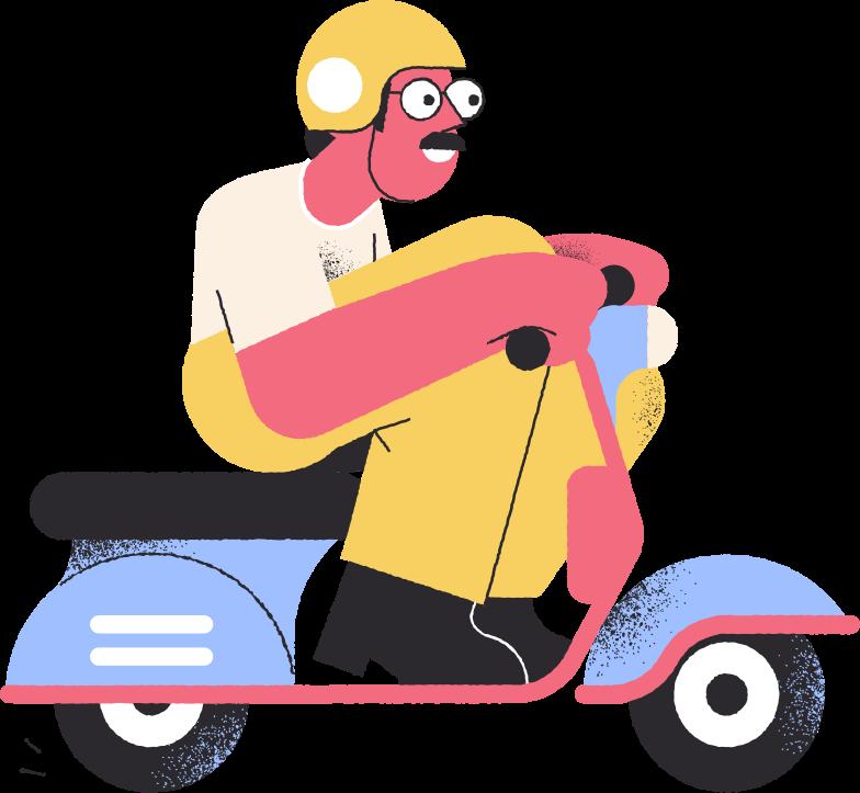 delivery man Clipart illustration in PNG, SVG