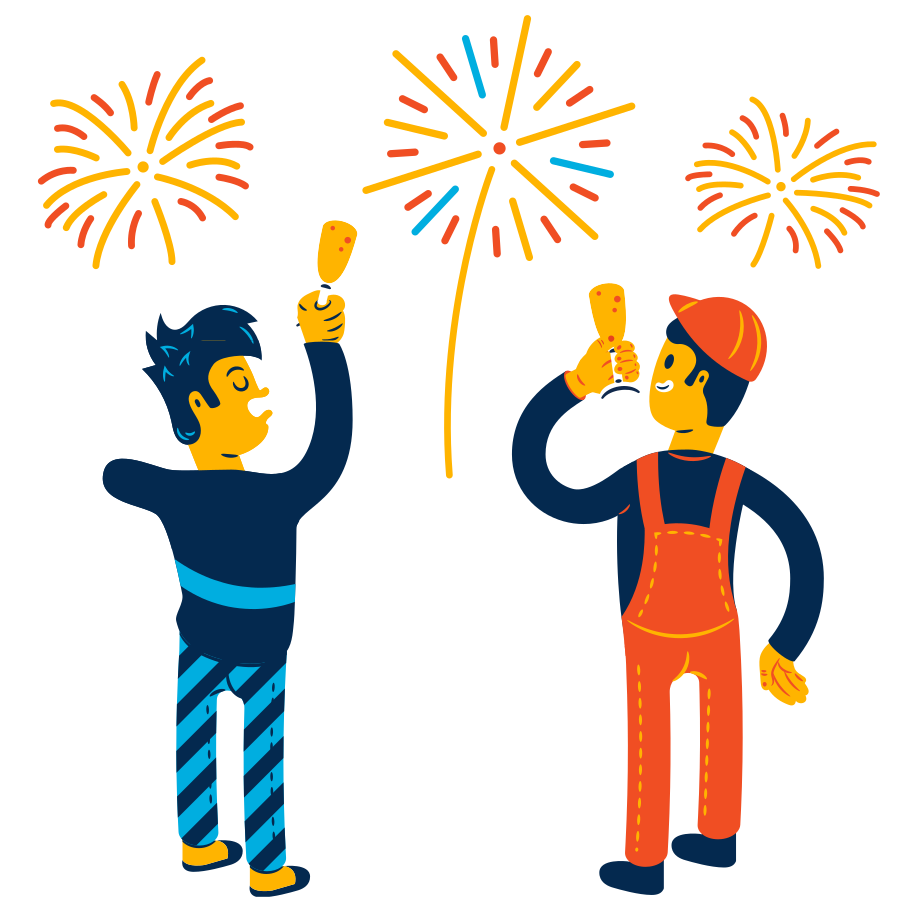 style New Year's fireworks Vector images in PNG and SVG   Icons8 Illustrations