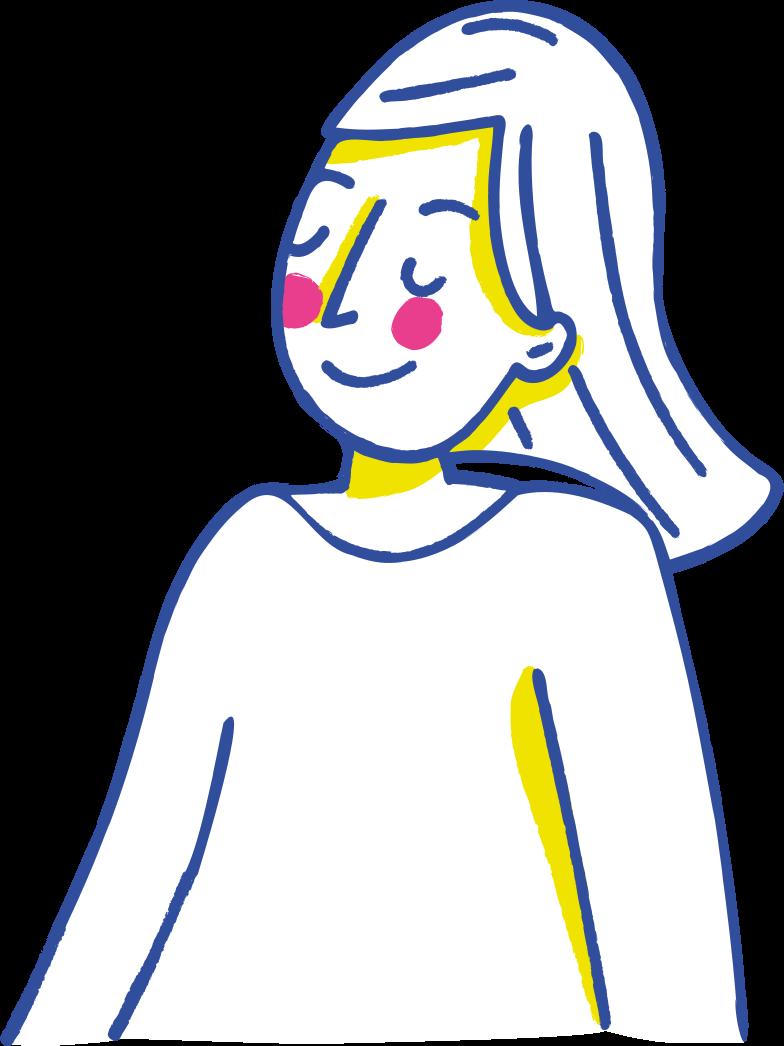 Иллюстрация счастливая женщина в стиле  в PNG и SVG | Icons8 Иллюстрации