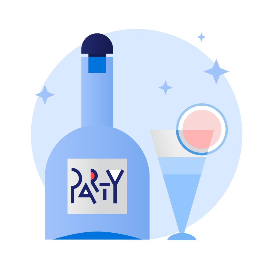 Party coctails Clipart illustration in PNG, SVG