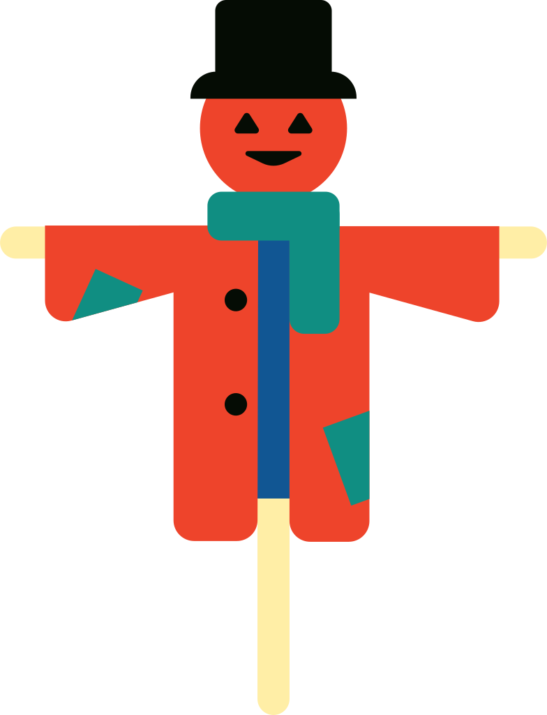 scarecrow Clipart illustration in PNG, SVG