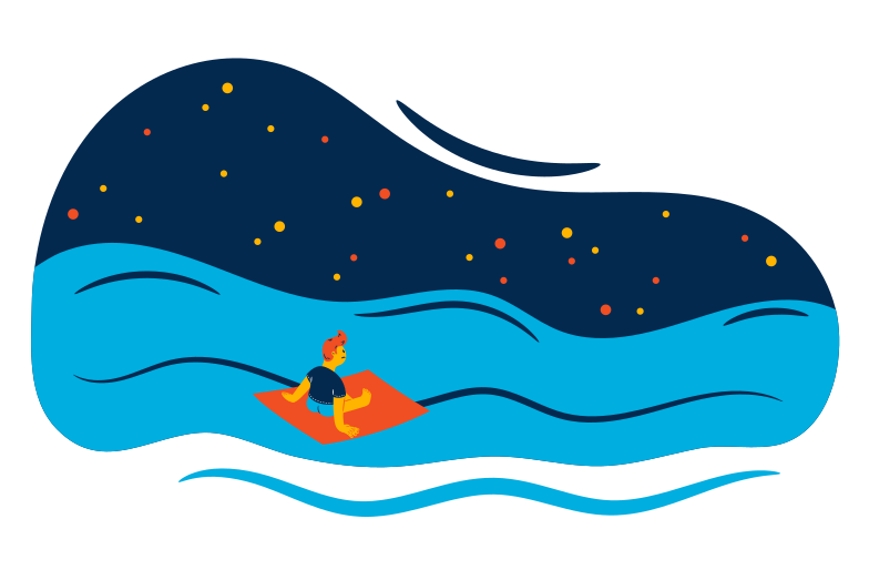 Rafting Clipart illustration in PNG, SVG