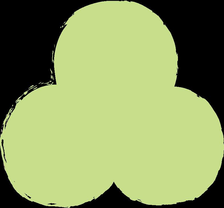 trefoil-light-green Clipart illustration in PNG, SVG