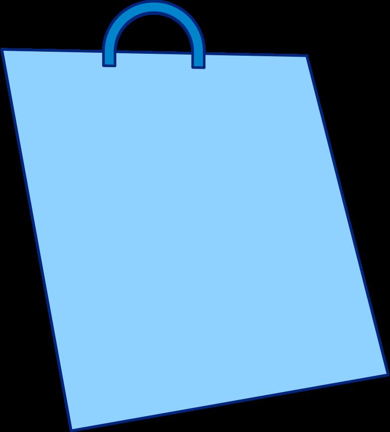 shopping bag blue Clipart illustration in PNG, SVG