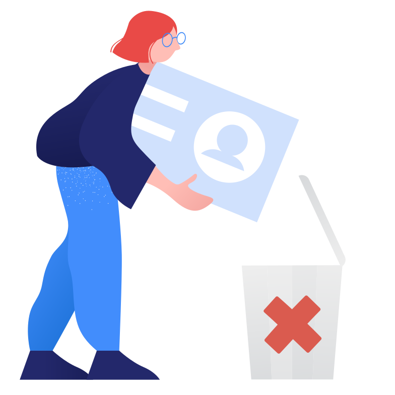 Account deleting Clipart illustration in PNG, SVG