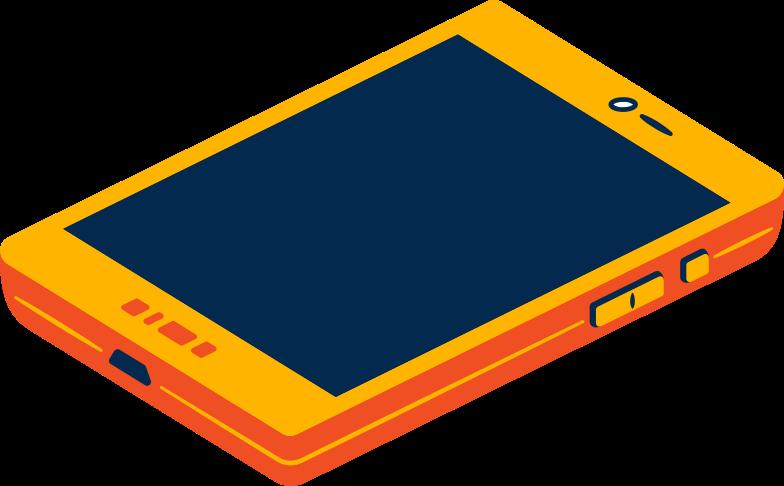 Illustration clipart téléphone intelligent aux formats PNG, SVG