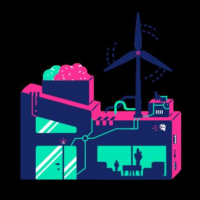 Иллюстрация Домашний ветряк в стиле  в PNG и SVG | Icons8 Иллюстрации