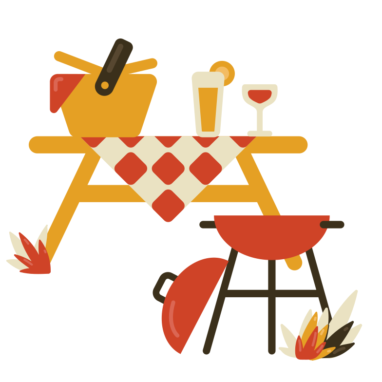 Picnic time Clipart illustration in PNG, SVG