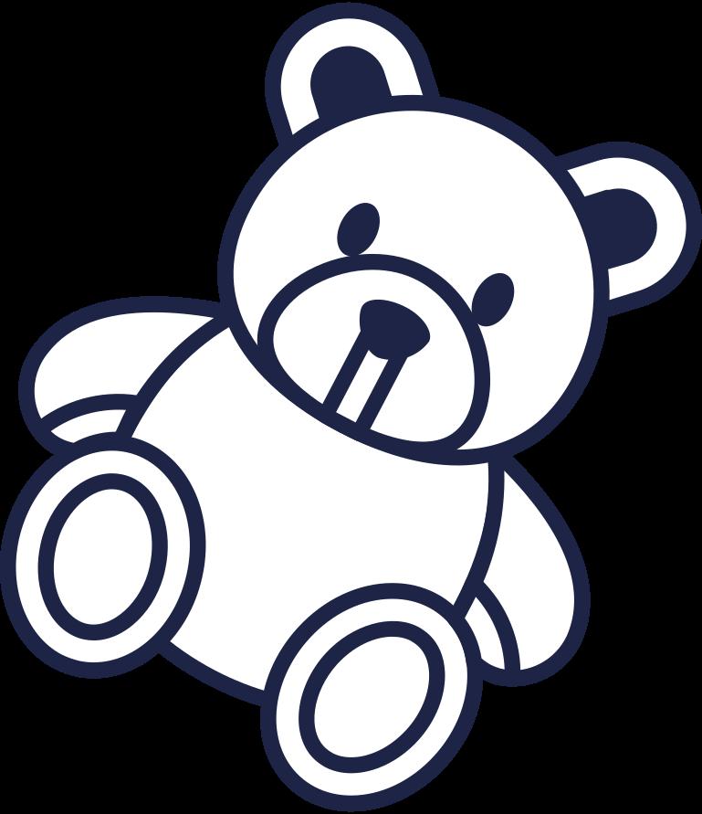 Ilustración de clipart de Página en construcción teddy line en PNG, SVG