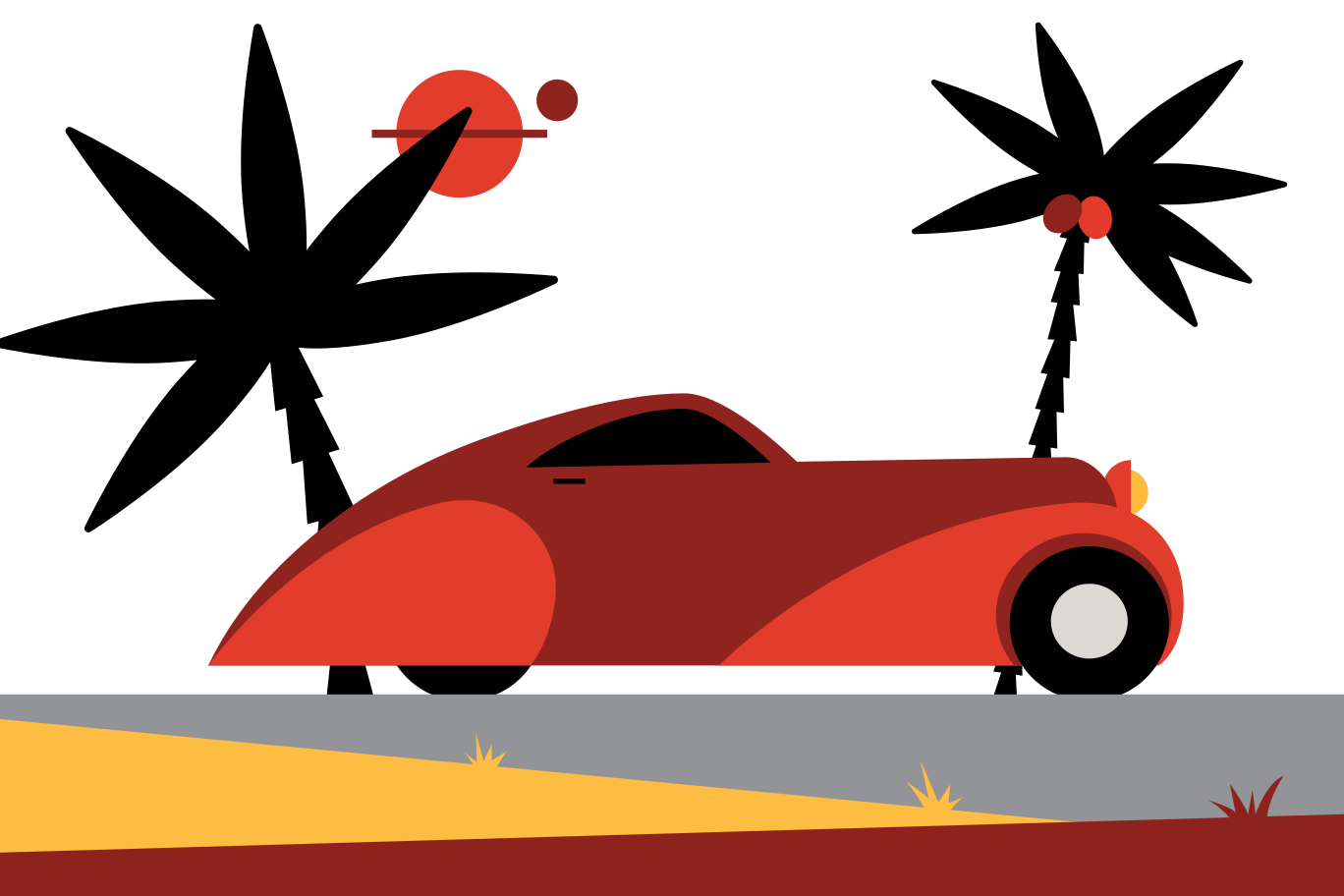 Travel by car Clipart illustration in PNG, SVG
