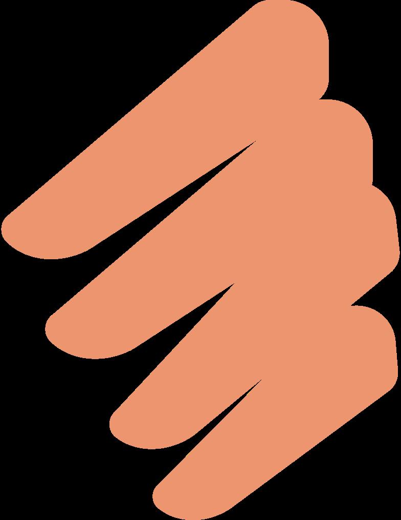 man 2 fingers Clipart illustration in PNG, SVG
