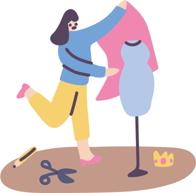 style Fashion making, having a job images in PNG and SVG | Icons8 Illustrations
