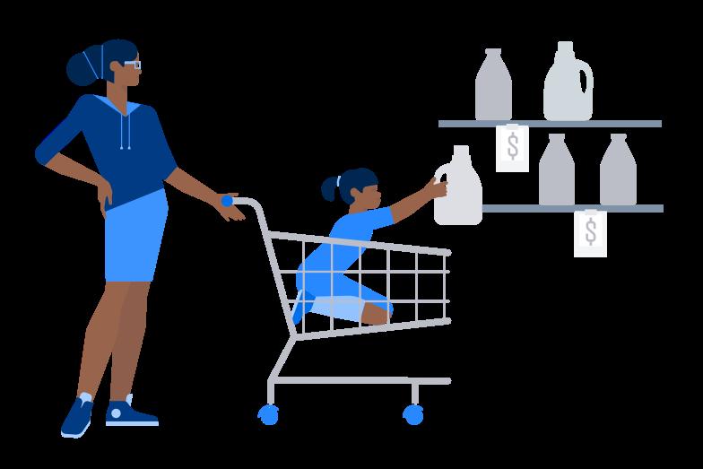 Shopping helper Clipart illustration in PNG, SVG