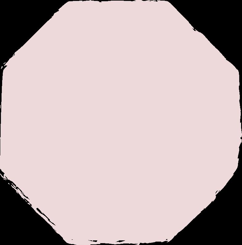 octagon-pink Clipart illustration in PNG, SVG
