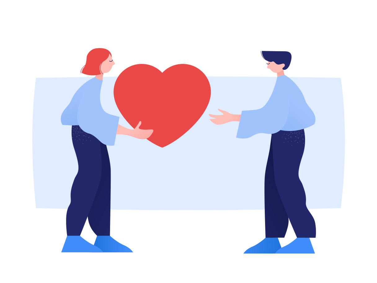Caring Clipart illustration in PNG, SVG
