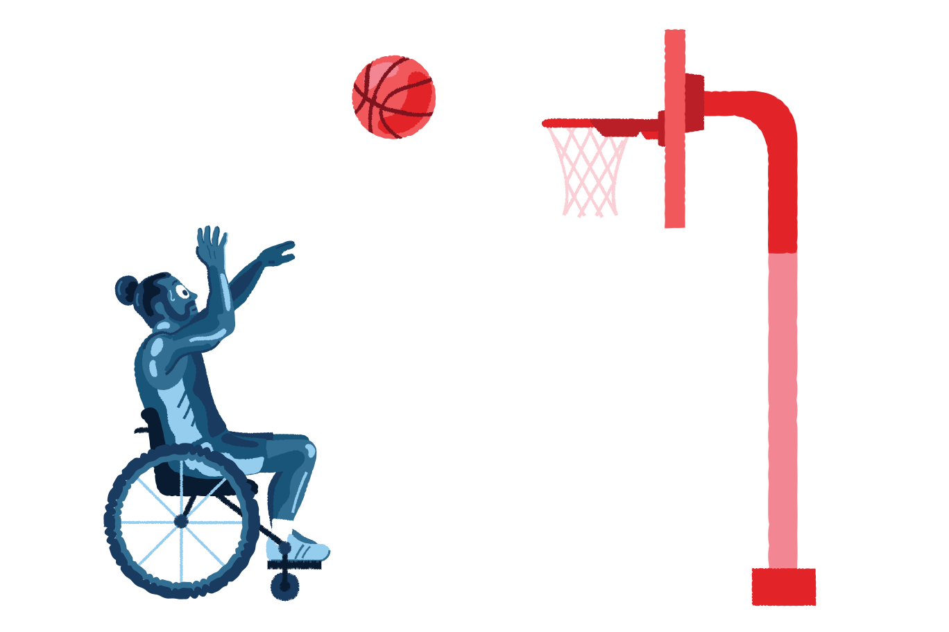 Paralympic basketball Clipart illustration in PNG, SVG