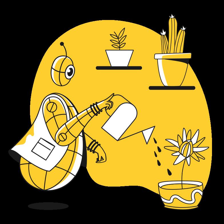 Robogardener Clipart illustration in PNG, SVG