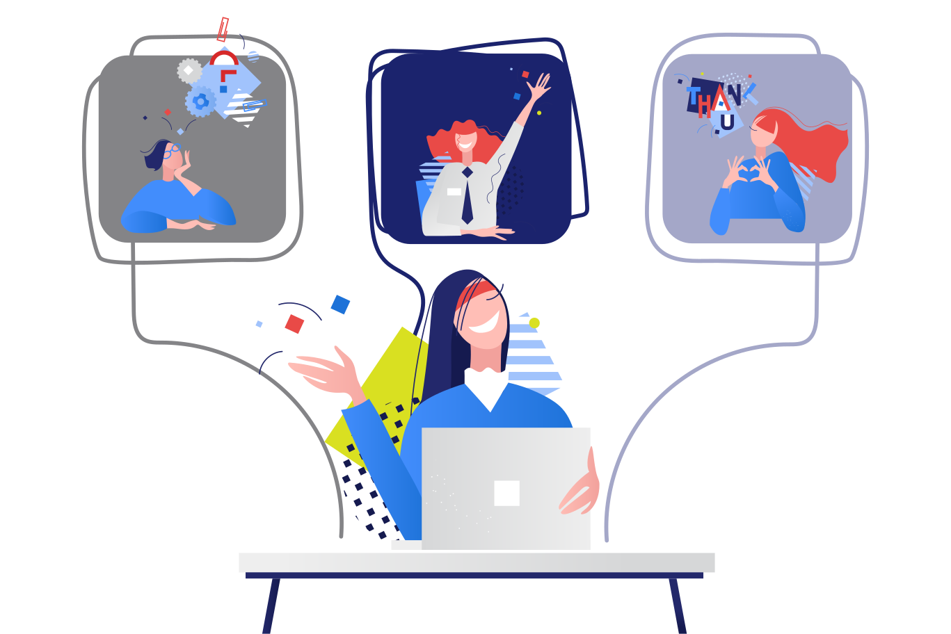 style Remote Work Meeting Vector images in PNG and SVG   Icons8 Illustrations