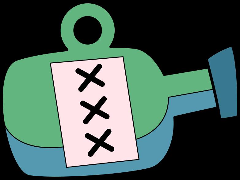 bottle xxx Clipart illustration in PNG, SVG