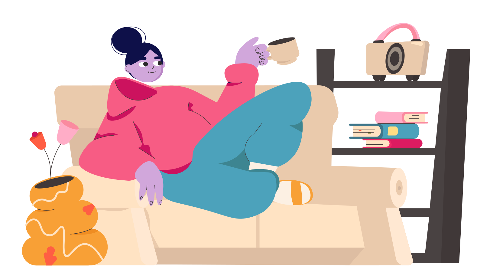 Relaxed time Clipart illustration in PNG, SVG