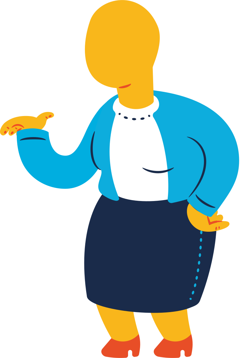 chubby old woman standing Clipart illustration in PNG, SVG