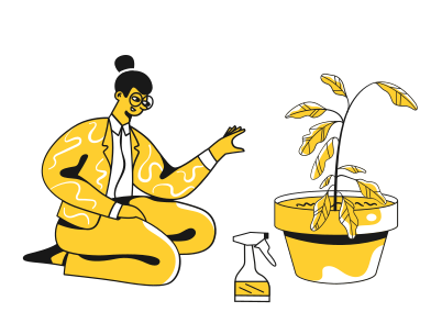 style Woman growing a plant images in PNG and SVG | Icons8 Illustrations