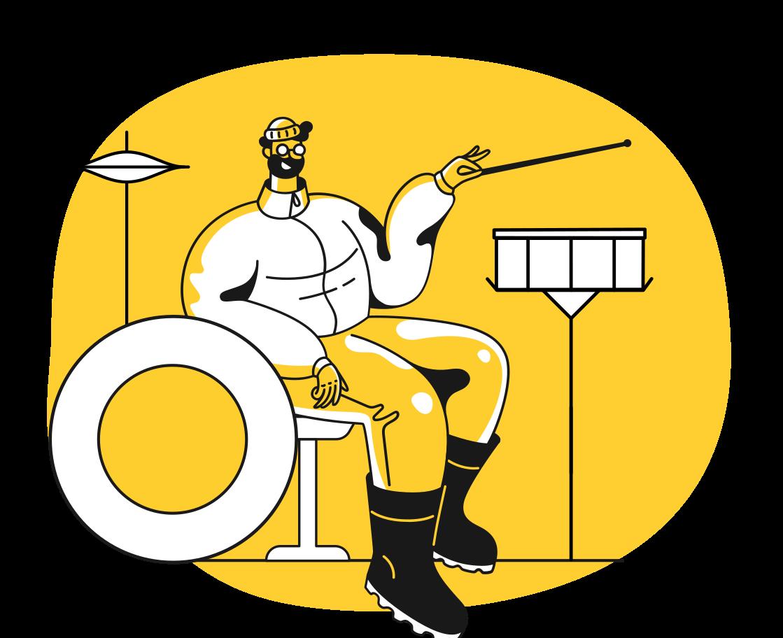 Ilustración de clipart de Músico en PNG, SVG
