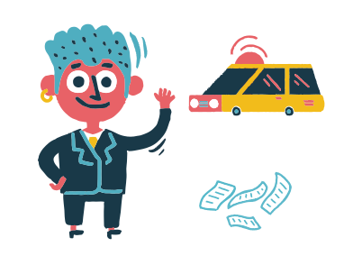 style Catch a taxi images in PNG and SVG | Icons8 Illustrations
