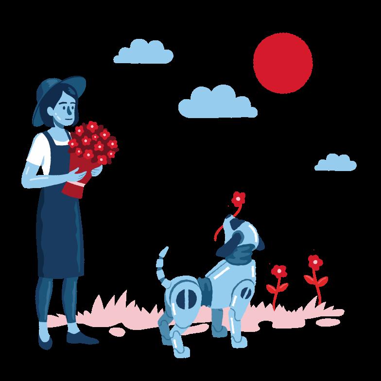 花屋のヘルパー のPNG、SVGクリップアートイラスト