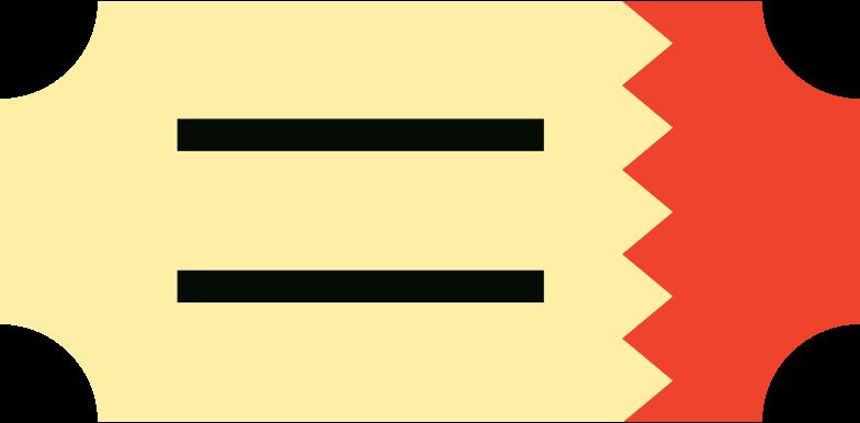 ticket Clipart illustration in PNG, SVG