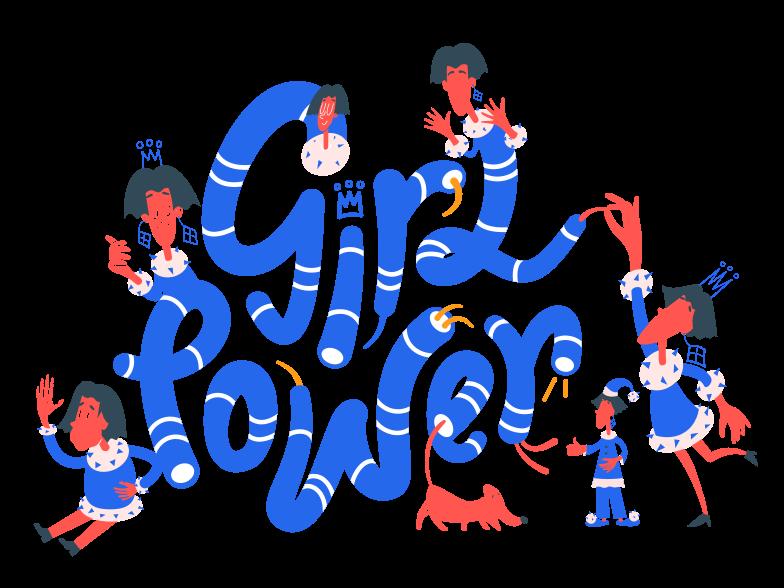 Girl power Illustrazione clipart in PNG, SVG