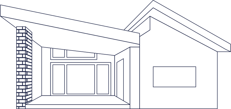 townhouse line Clipart illustration in PNG, SVG