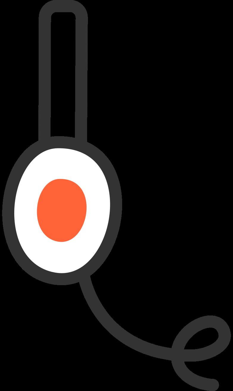support headphones Clipart illustration in PNG, SVG