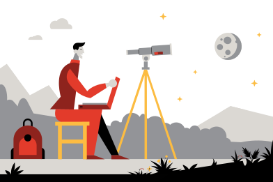 style Exploring the moon images in PNG and SVG | Icons8 Illustrations