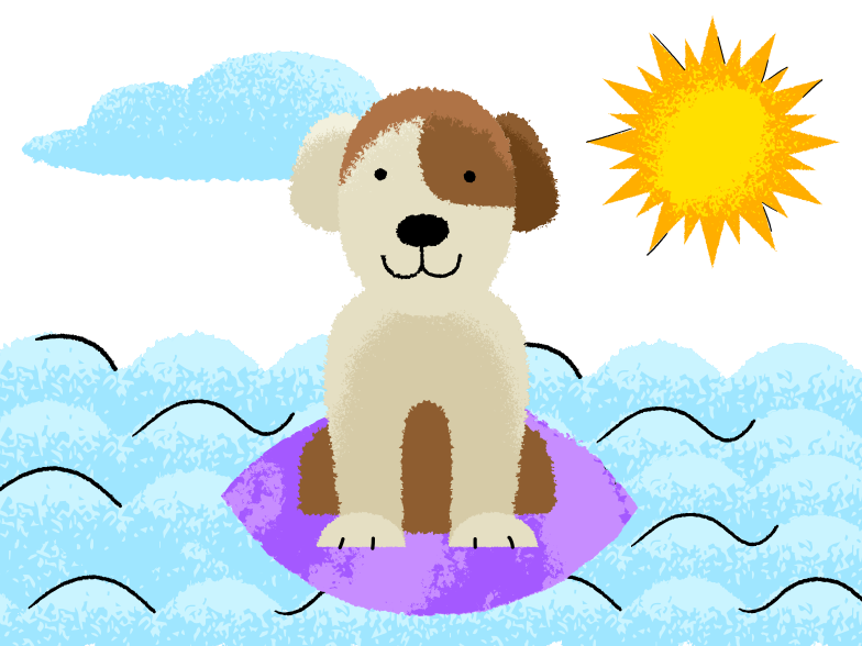 style Dog surfer Vector images in PNG and SVG | Icons8 Illustrations